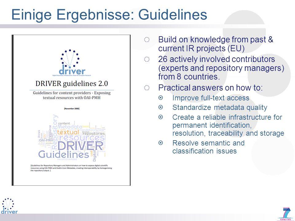 Einige Ergebnisse: Guidelines
