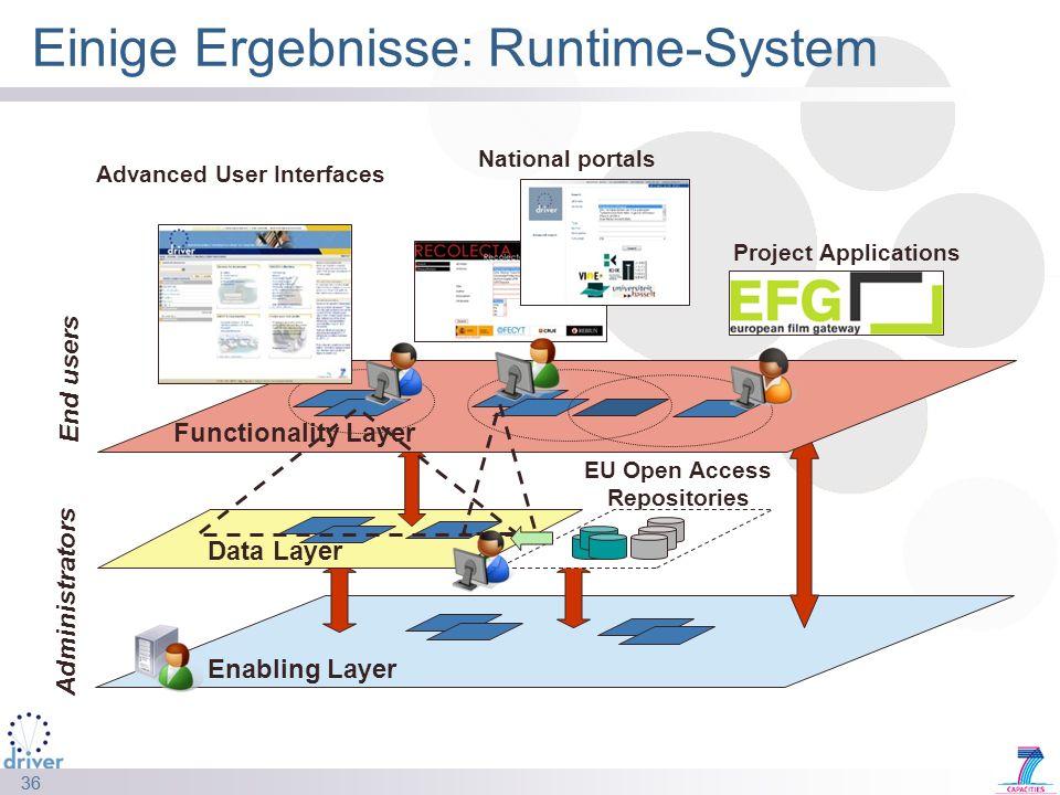 Einige Ergebnisse: Runtime-System