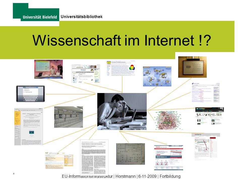 Wissenschaft im Internet !