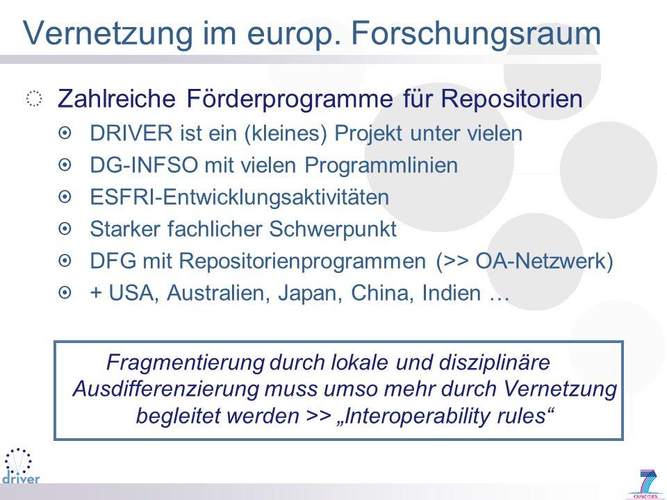 Vernetzung im europ. Forschungsraum