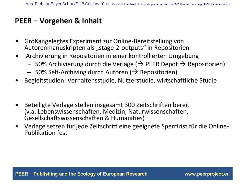 Aus: Barbara Bayer Schur (SUB Göttingen): http://www. dini