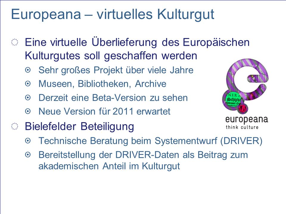 Europeana – virtuelles Kulturgut