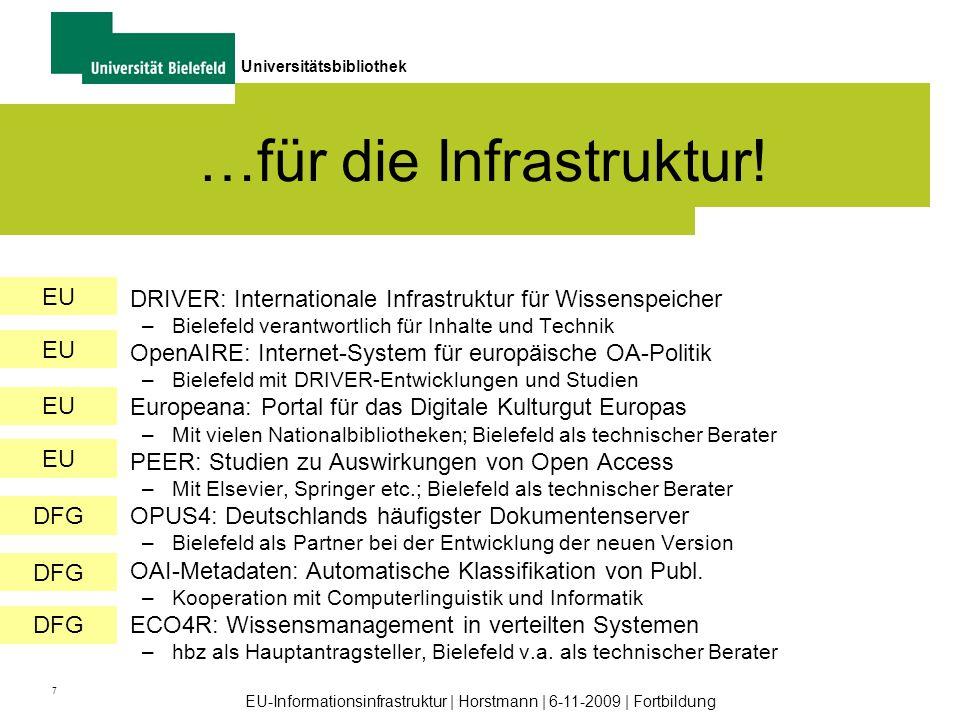 …für die Infrastruktur!