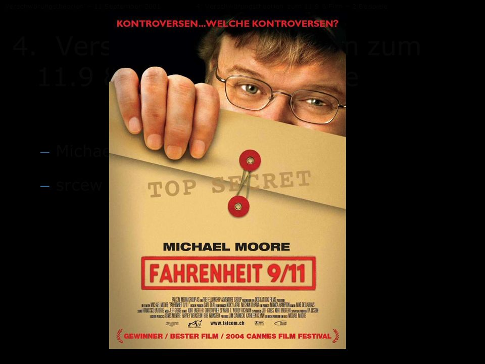 the manipulation of the footage in fahrenheit 911 through intentional editing by michael moore Moore also uses comical voiceover and editing techniques such as repetition of clips fahrenheit 9/11 (michael moore  bethany lee's film studies blog.