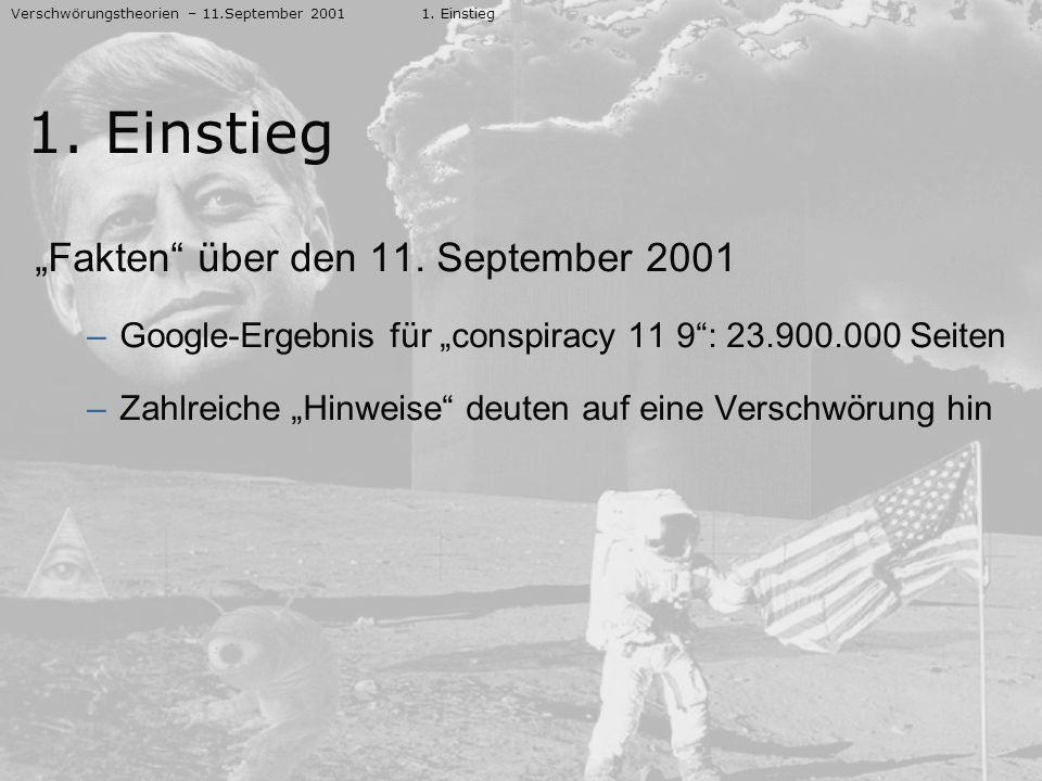 """1. Einstieg """"Fakten über den 11. September 2001"""