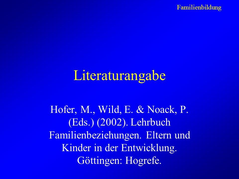 Familienbildung Literaturangabe.