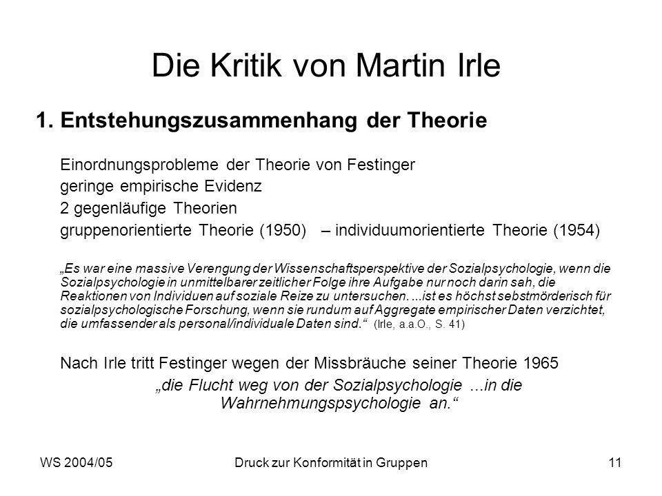 Die Kritik von Martin Irle
