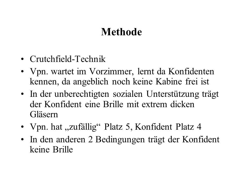 Methode Crutchfield-Technik