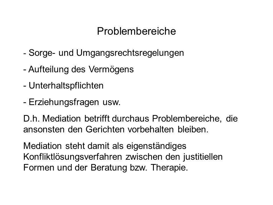 Problembereiche - Sorge- und Umgangsrechtsregelungen