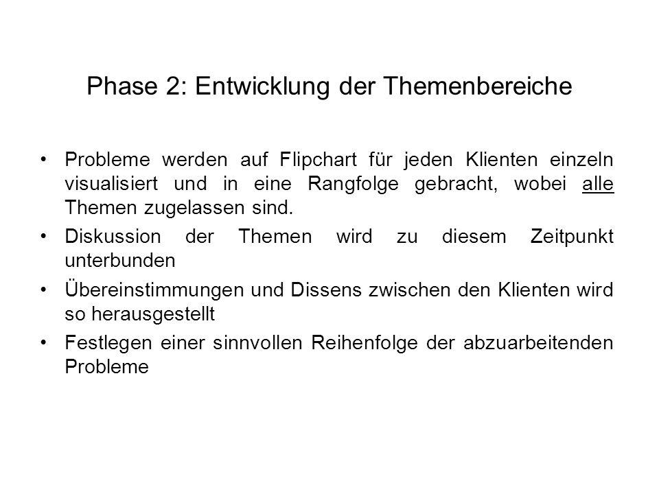 Phase 2: Entwicklung der Themenbereiche
