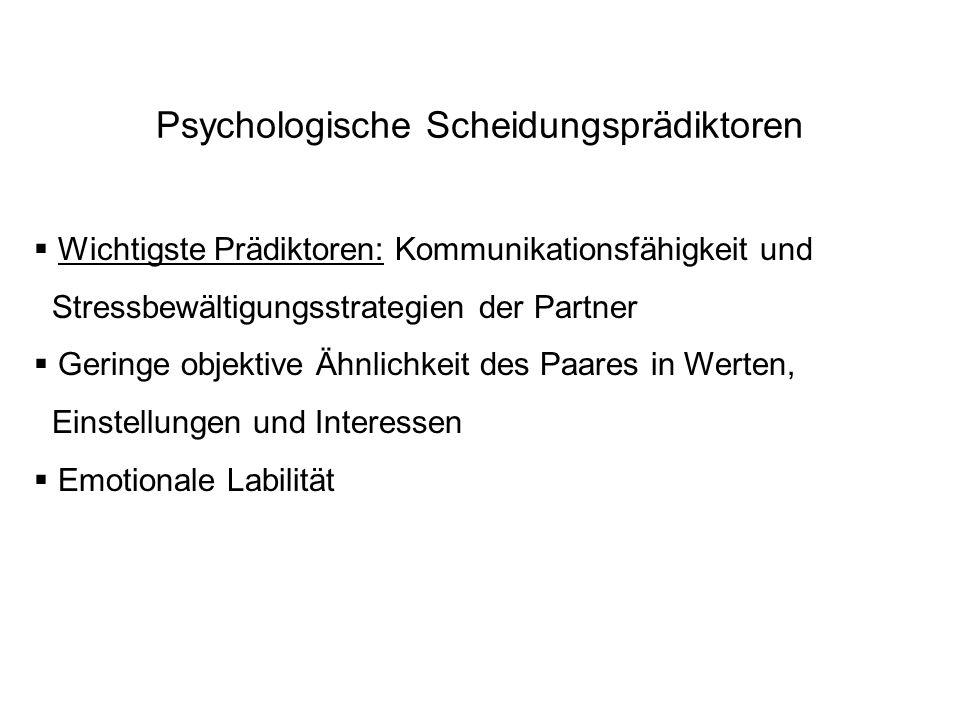 Psychologische Scheidungsprädiktoren