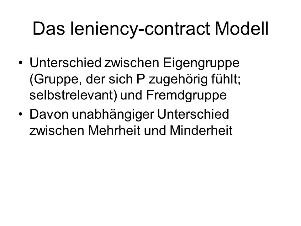 Das leniency-contract Modell
