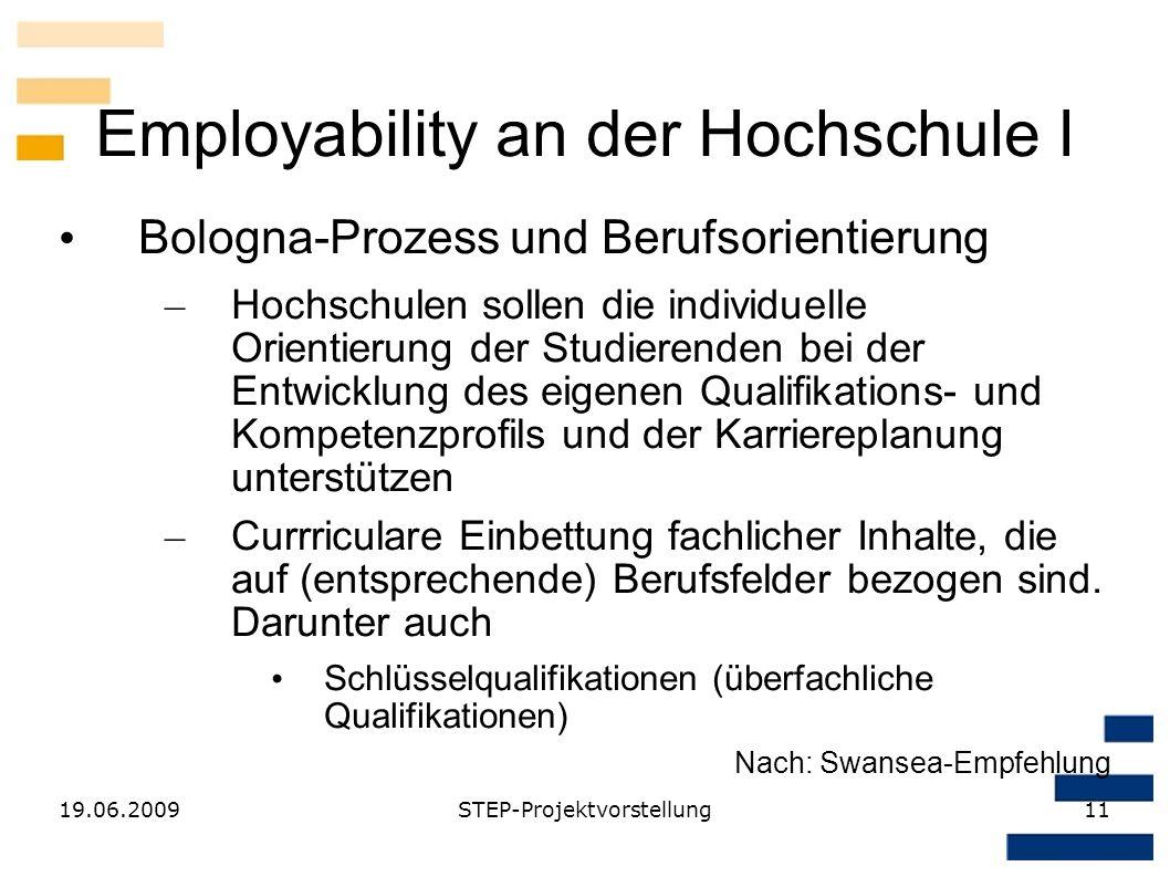 Employability an der Hochschule I