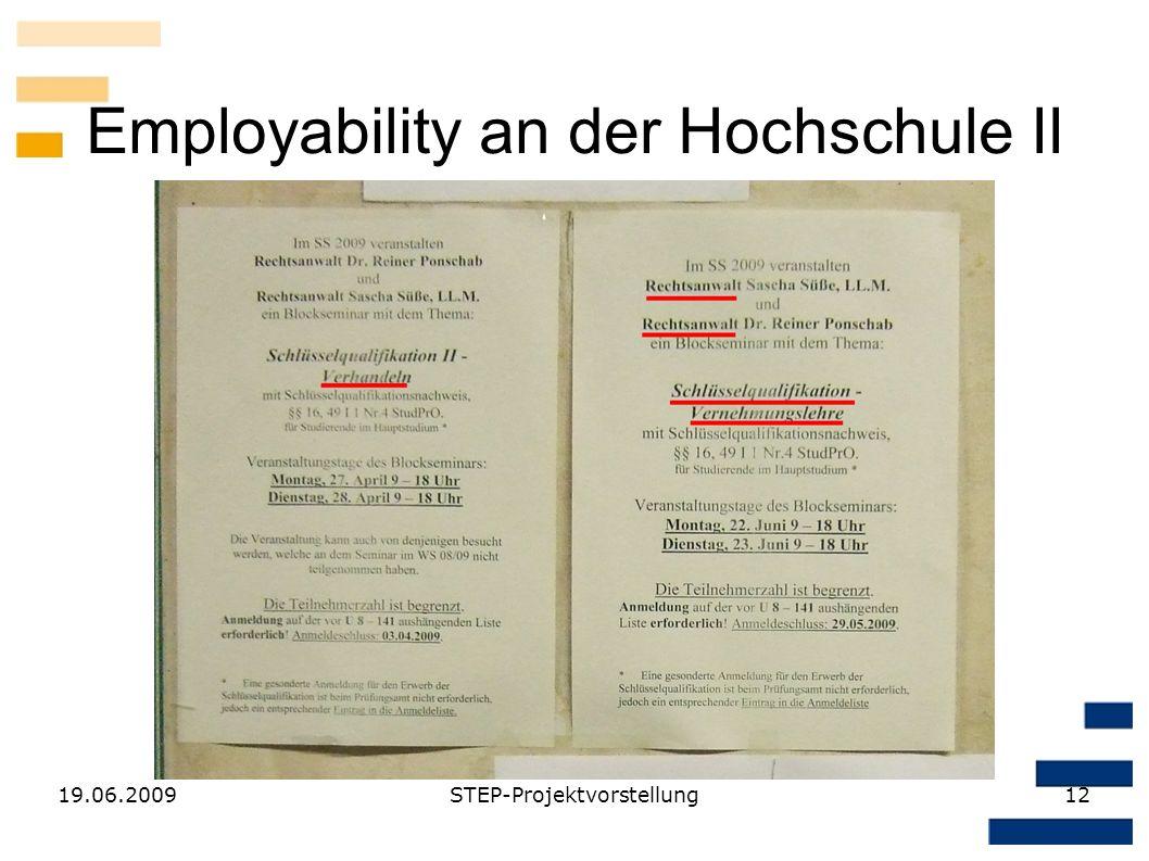 Employability an der Hochschule II