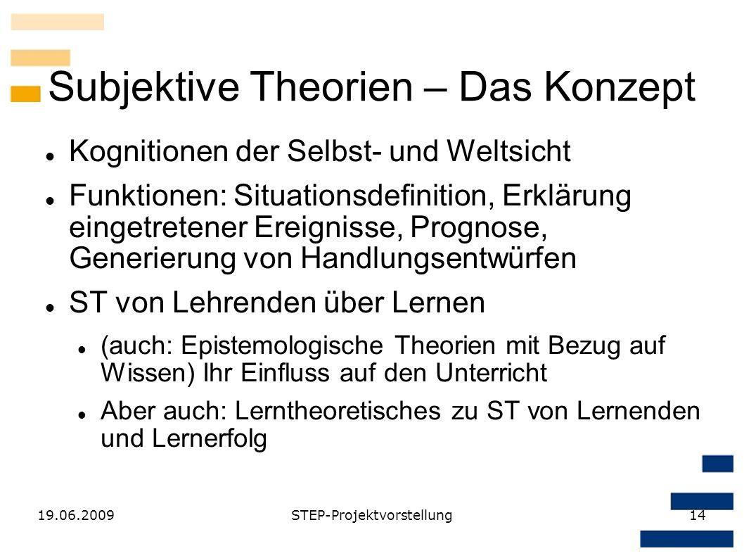 Subjektive Theorien – Das Konzept
