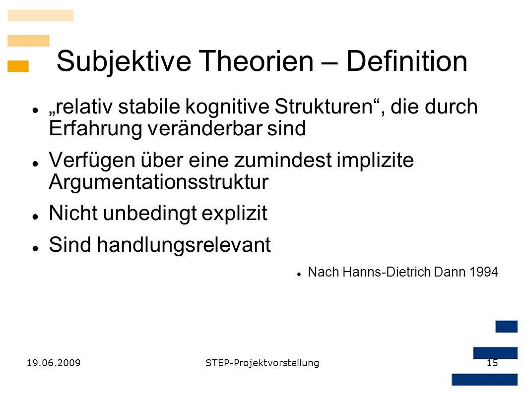 Subjektive Theorien – Definition