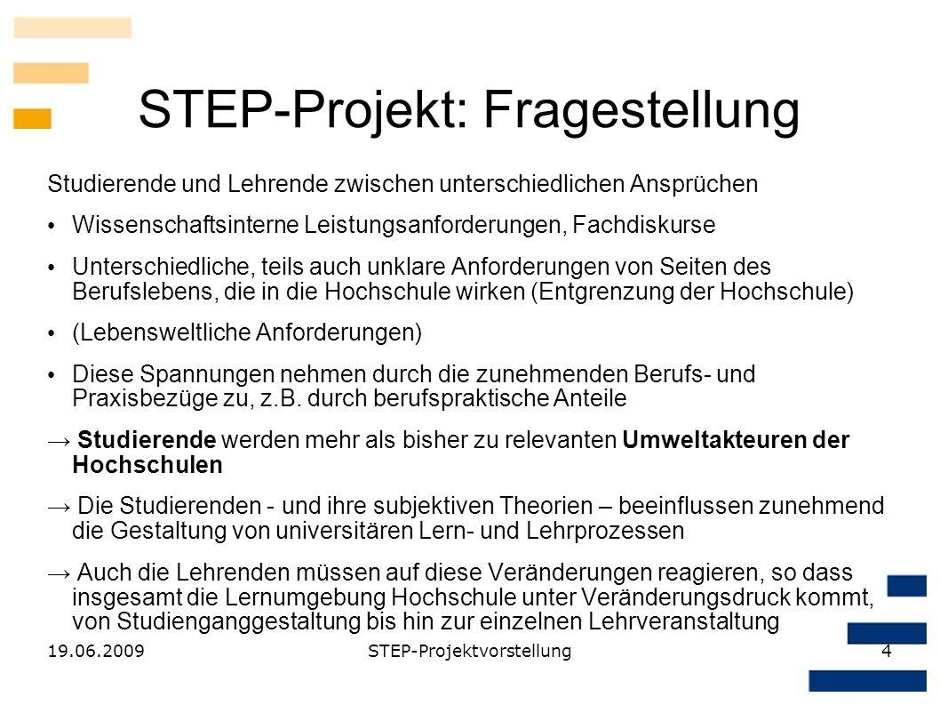 STEP-Projekt: Fragestellung