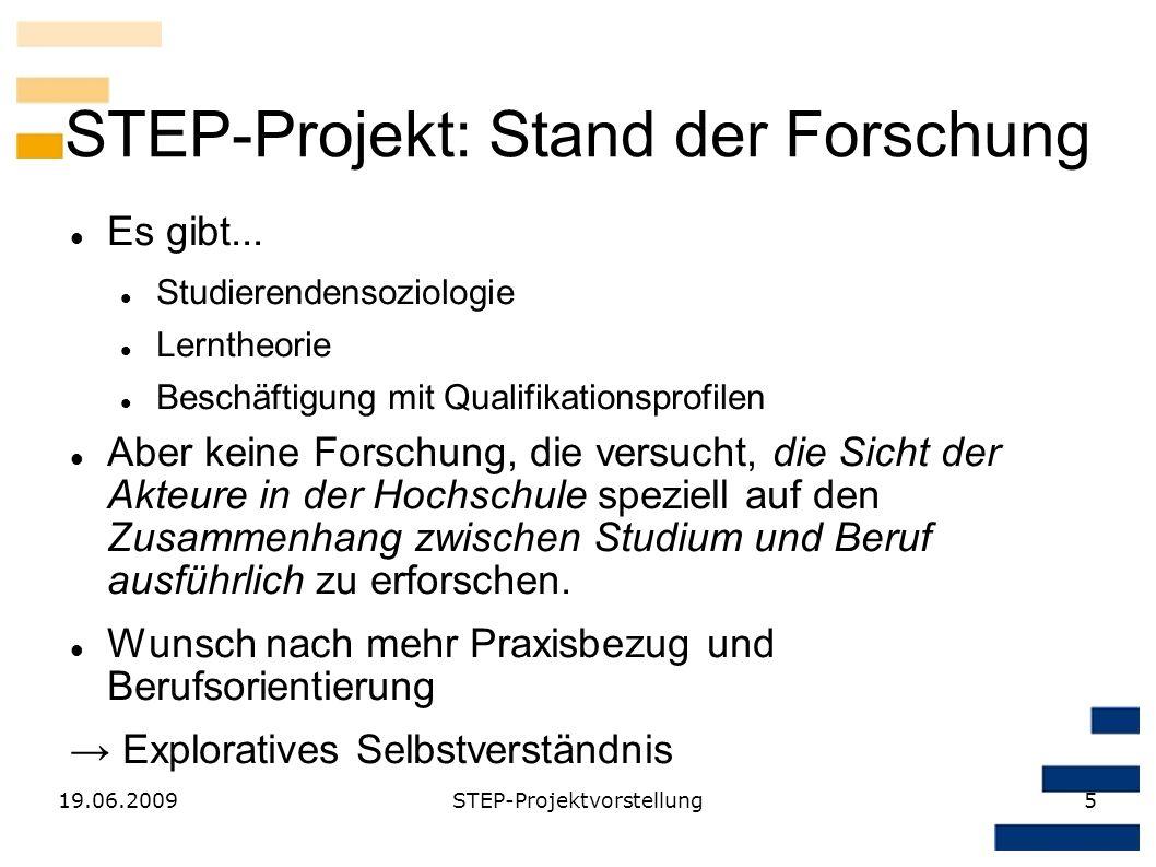 STEP-Projekt: Stand der Forschung