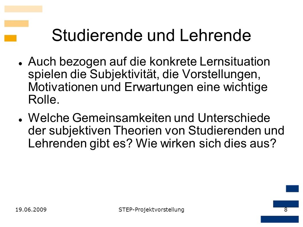 Studierende und Lehrende