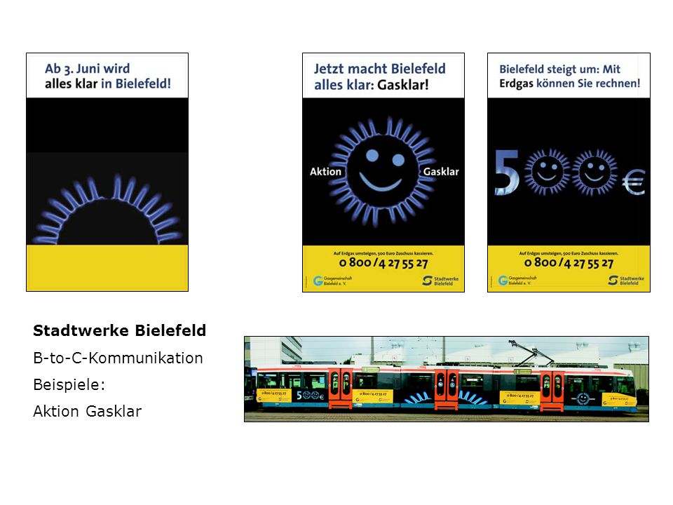 Stadtwerke Bielefeld B-to-C-Kommunikation Beispiele: Aktion Gasklar
