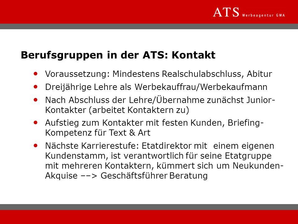 Berufsgruppen in der ATS: Kontakt