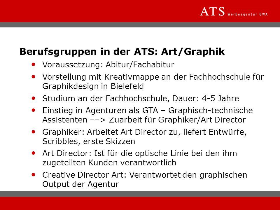 Berufsgruppen in der ATS: Art/Graphik