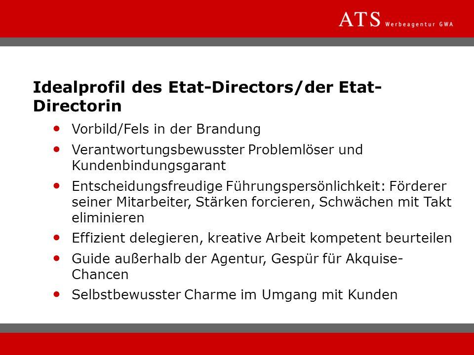 Idealprofil des Etat-Directors/der Etat-Directorin