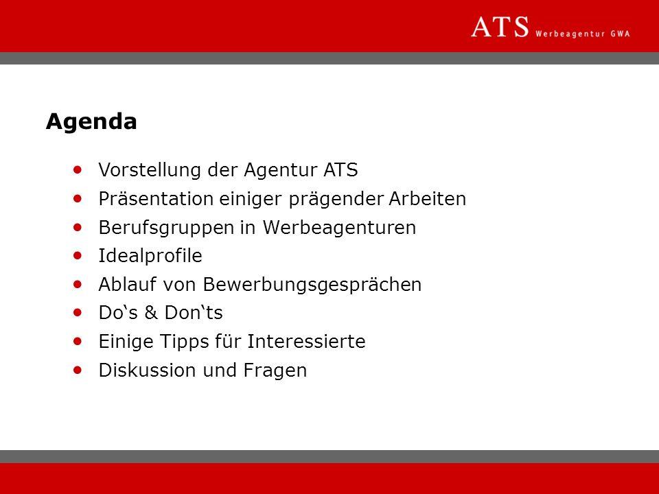 Agenda Vorstellung der Agentur ATS