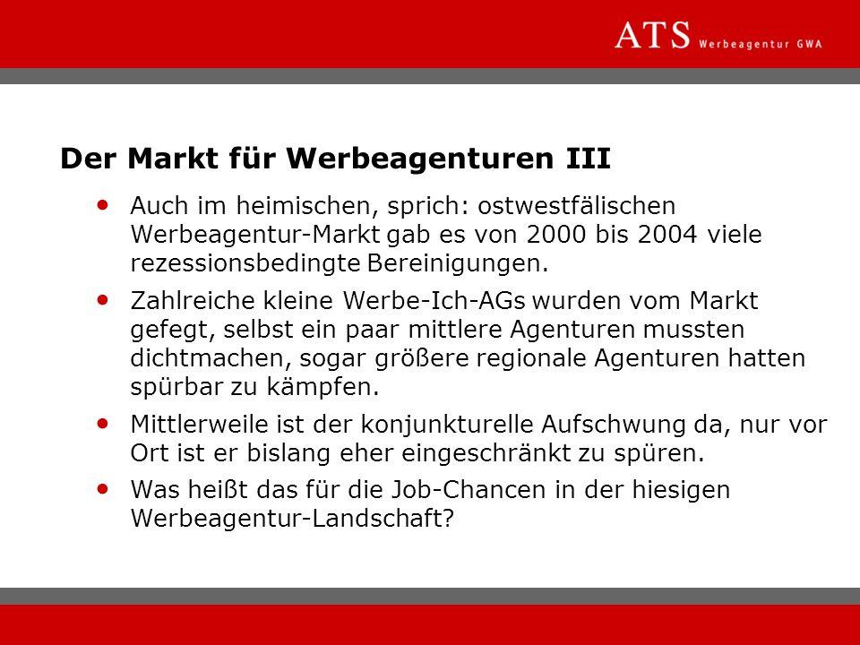 Der Markt für Werbeagenturen III