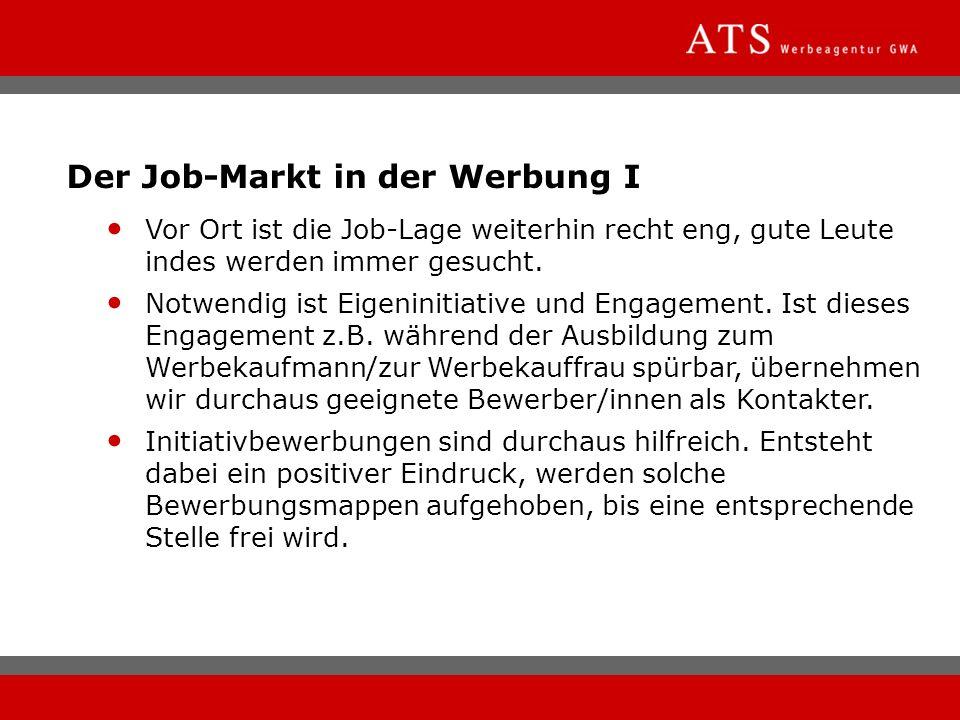 Der Job-Markt in der Werbung I