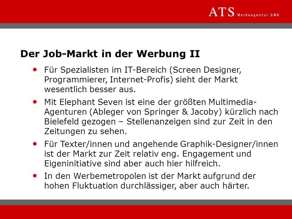 Der Job-Markt in der Werbung II