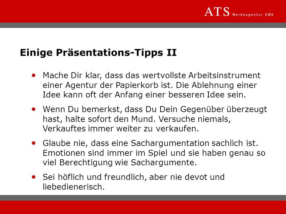 Einige Präsentations-Tipps II