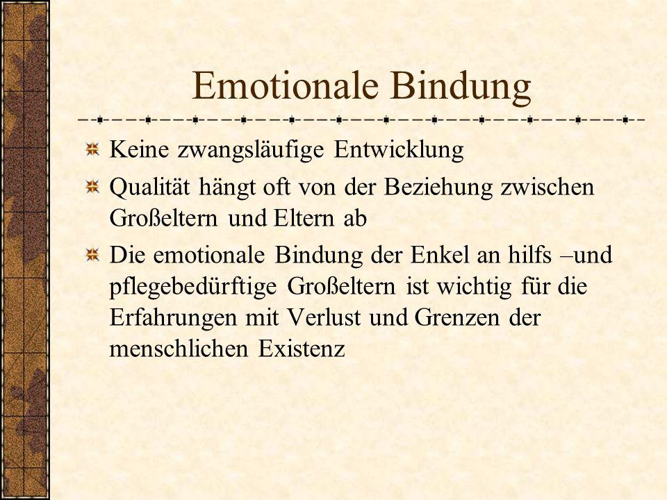 Emotionale Bindung Keine zwangsläufige Entwicklung