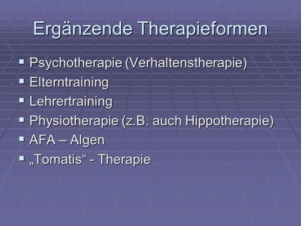 Ergänzende Therapieformen