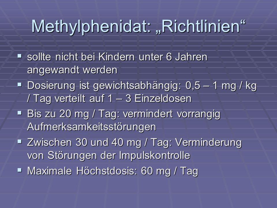 """Methylphenidat: """"Richtlinien"""