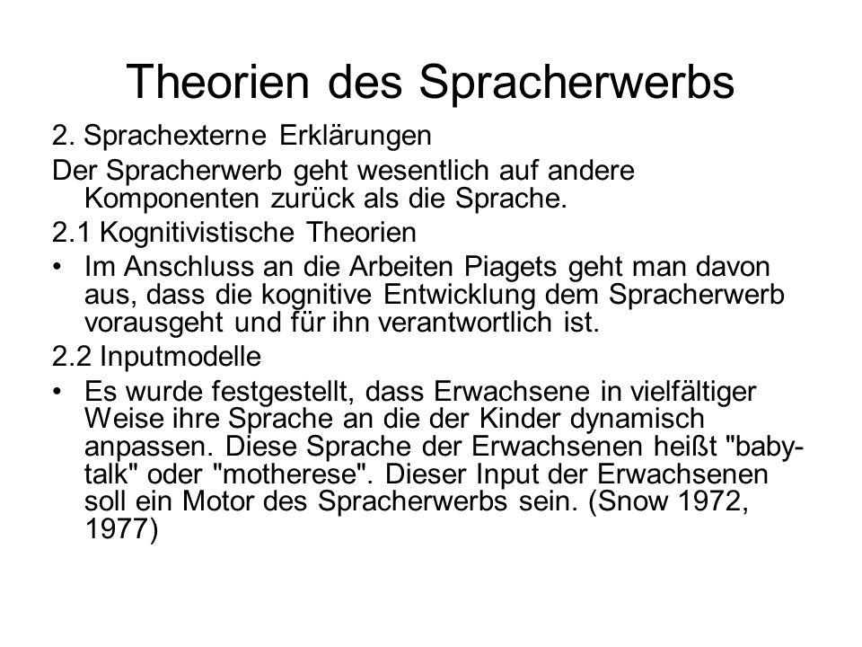 Theorien des Spracherwerbs