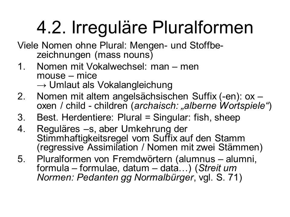 4.2. Irreguläre Pluralformen