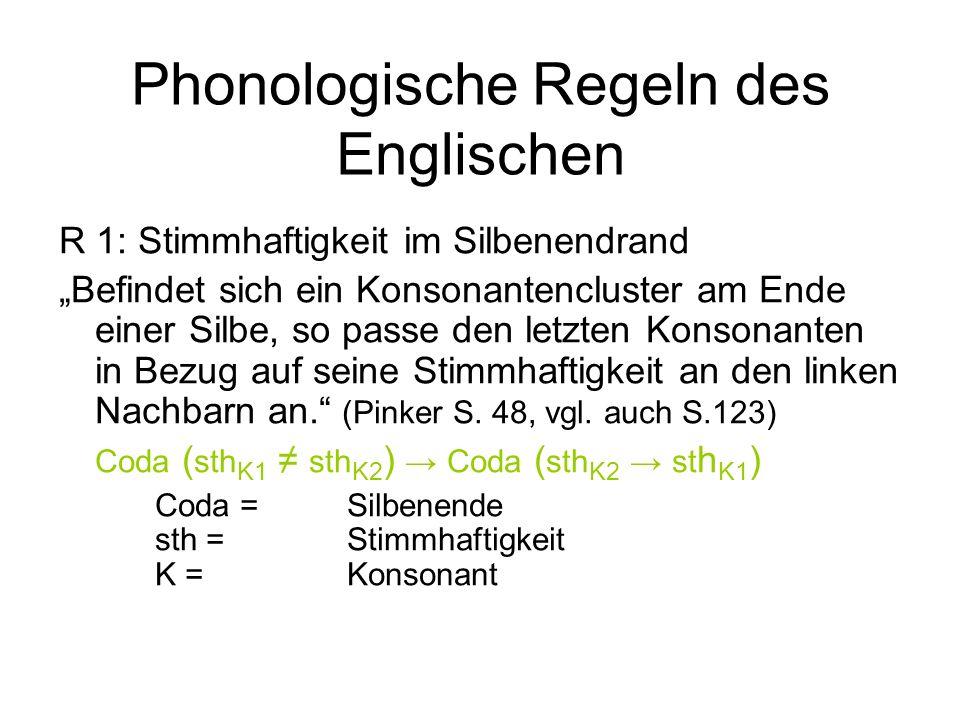 Phonologische Regeln des Englischen
