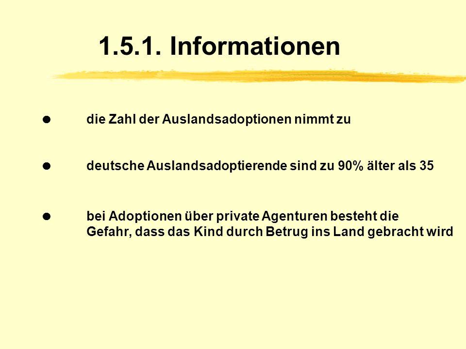 1.5.1. Informationen  die Zahl der Auslandsadoptionen nimmt zu