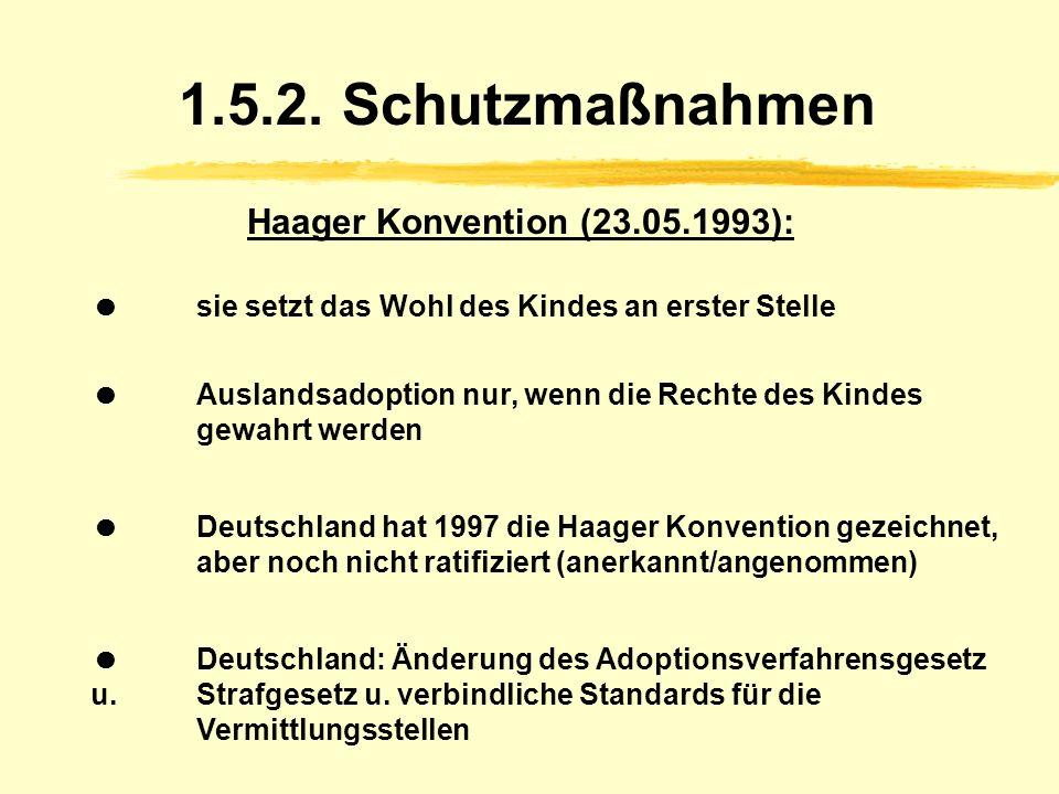 1.5.2. Schutzmaßnahmen Haager Konvention (23.05.1993):