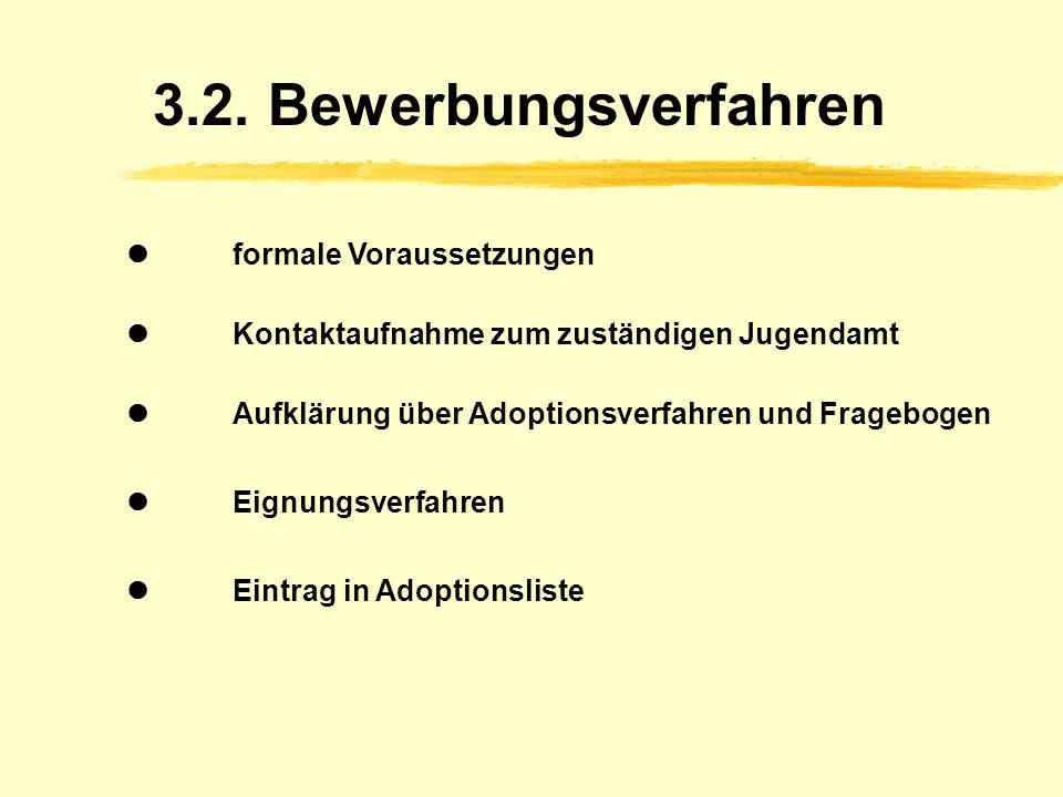 3.2. Bewerbungsverfahren  formale Voraussetzungen