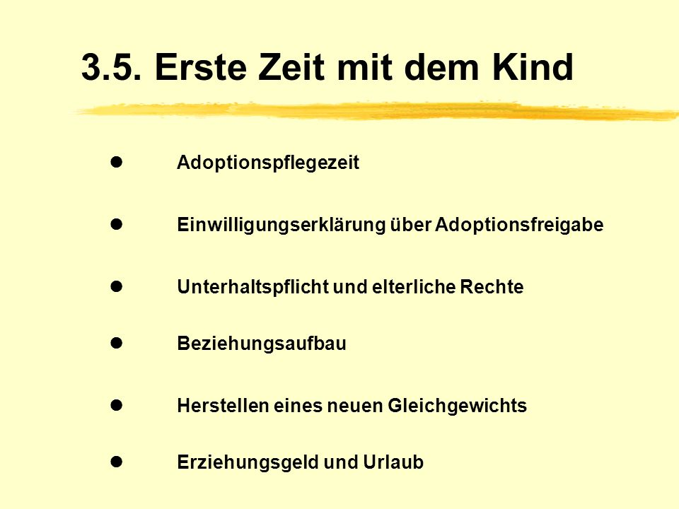 3.5. Erste Zeit mit dem Kind  Adoptionspflegezeit