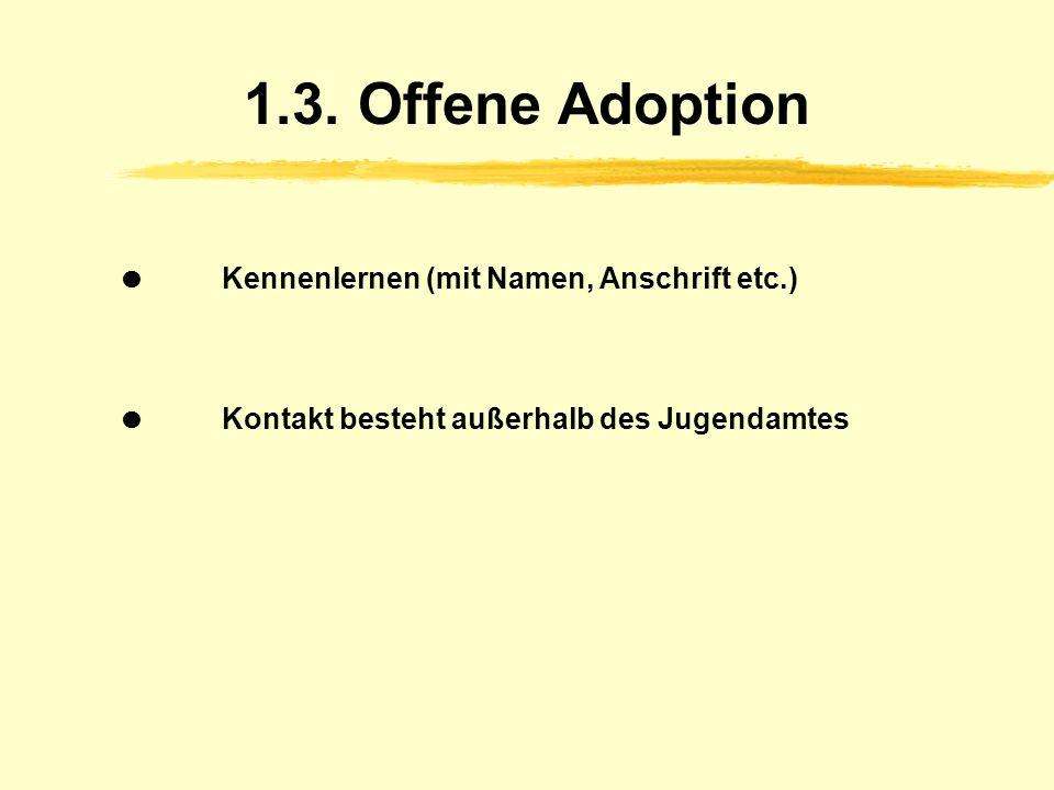 1.3. Offene Adoption  Kennenlernen (mit Namen, Anschrift etc.)