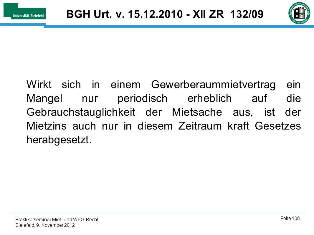 BGH Urt. v. 15.12.2010 - XII ZR 132/09