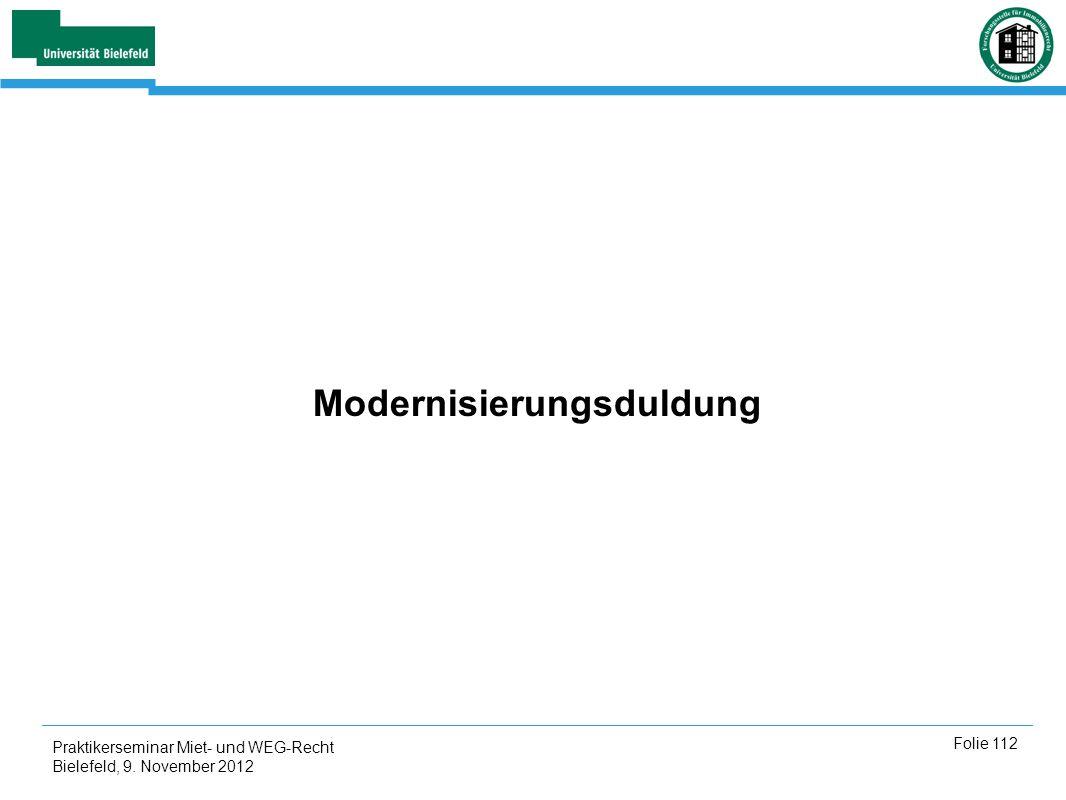 Modernisierungsduldung