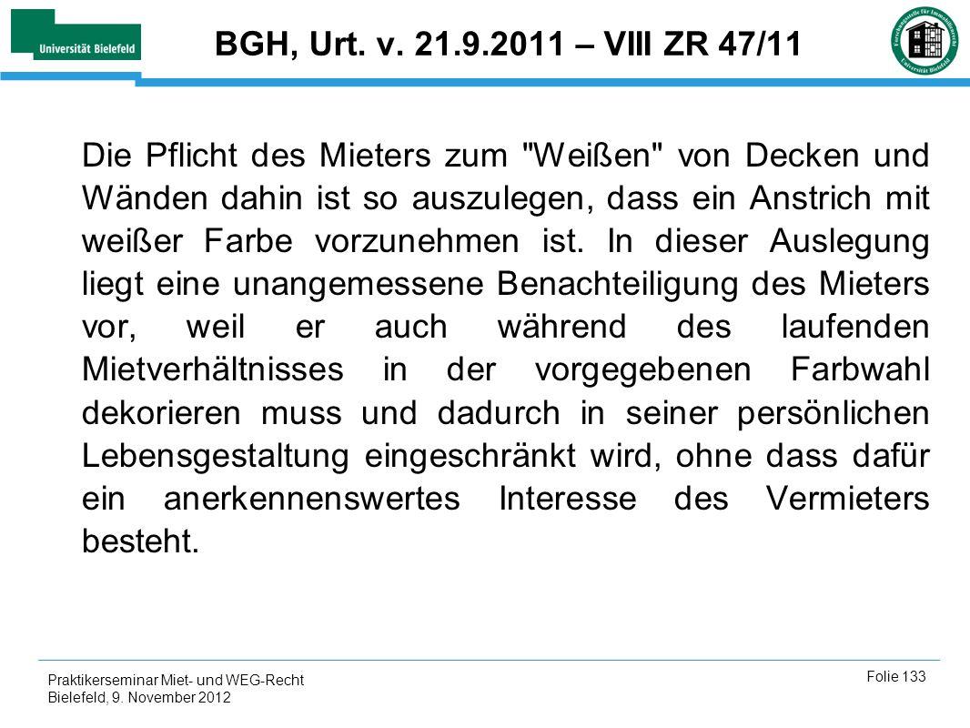 BGH, Urt. v. 21.9.2011 – VIII ZR 47/11