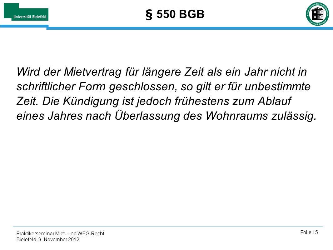 § 550 BGB