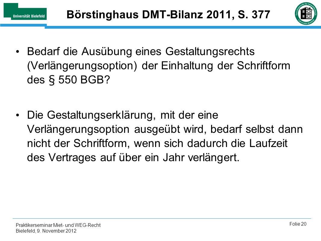 Börstinghaus DMT-Bilanz 2011, S. 377