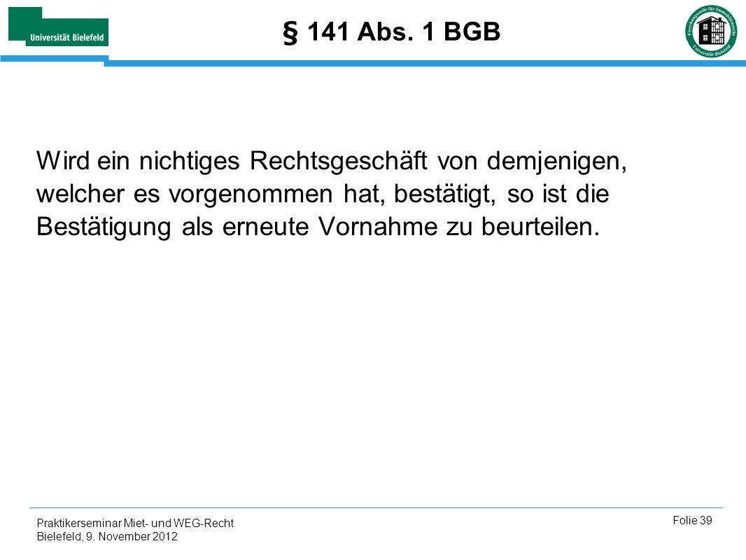 § 141 Abs. 1 BGB
