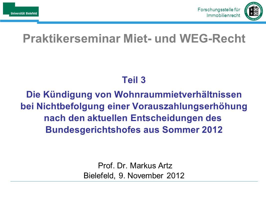 Praktikerseminar Miet- und WEG-Recht